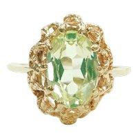 Vintage Neon Green Spinel 2.77 Carat Ring 10k Gold