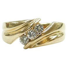 Gents Diamond .34 ctw Ring 14k Gold ~ Men's