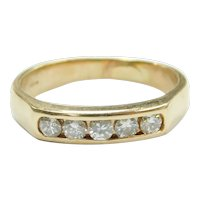 Diamond .33 ctw Wedding Band Ring 14k Gold