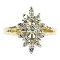 Diamond .29 ctw Navette Cluster Ring 14k Gold Two-Tone