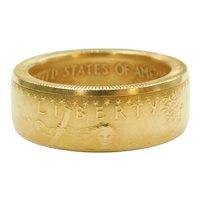 1998 1 Oz 50 Dollar American Gold Eagle Coin Ring 22k Fine Gold