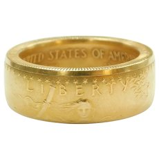 1998 1 Oz 50 Dollar American Gold Eagle Coin Ring 22k Fine Gold
