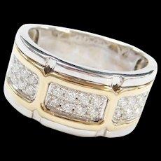 .60 ctw Diamond Two-Tone Wide Men's Ring