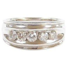 Vintage 14k White Gold .90 ctw Diamond Ring