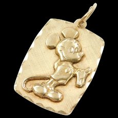 Vintage 14k Gold Walt Disney Productions MICKEY MOUSE Charm
