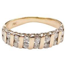 Diamond .48 ctw Band Ring 14k Yellow Gold