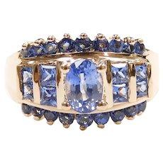 Ceylon Sapphire 1.95 ctw Ring 14k Yellow Gold
