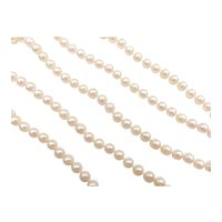Cultured Pearl Opera Length Strand Necklace 14k Yellow Gold
