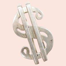 Dollar Sign $ Money Clip Sterling Silver