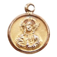 Religious Sto. Niño and Mt. Carmel Charm 10k Yellow Gold