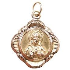 Religious Sto. Niño and Mt. Carmel Charm 10k Yellow Gold