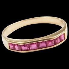 Vintage 14k Gold .80 ctw Natural Ruby Ring