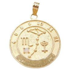 Virgo Jewellery & Watches Zodiac Vintage Silver Enamel Travel Charm Fine Jewellery