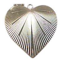 Vintage 14k Gold Opening Locket Heart Charm