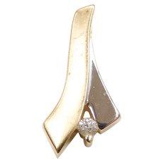 Diamond .035 Carat Pendant 14k Yellow and White Gold Two-Tone