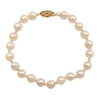 Cultured Pearl Bracelet 14k Yellow Gold