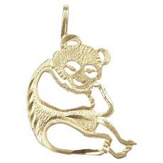 14k Gold Panda Bear Charm / Pendant