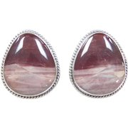 Sterling Silver Picasso Jasper Stud Earrings