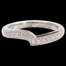 Vintage Platinum .20 ctw Diamond Wave Ring