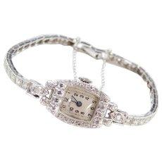 Art Deco Platinum .97 ctw Diamond Ladies Dress Watch ~ Norman