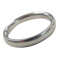 Vintage Platinum Wedding Band Ring