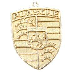 14k Gold Porsche Emblem Pendant