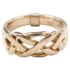 Vintage 14k Gold Puzzle Ring