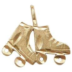 14k Gold Roller Skates Charm