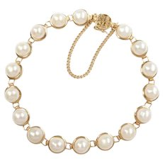 Cultured Pearl Bracelet 14k Gold