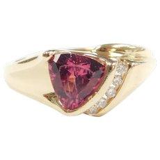 Pink Tourmaline and Diamond .98 ctw Ring 14k Gold