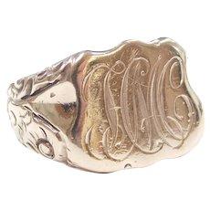 Edwardian Signet Ring 10k Rose Gold