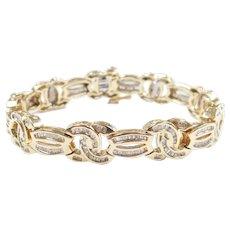 Diamond 3.40 ctw Bracelet 14k Gold Designer Inspired