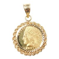 Liberty Head Coin Copy Pendant / Charm 14k and 22k Gold