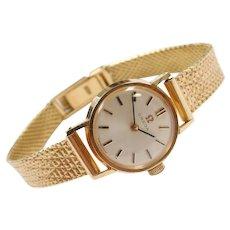 Ladies Omega Watch 18k Gold