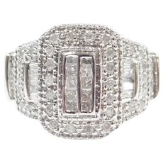 Diamond .64 ctw Fashion Ring 10k White Gold