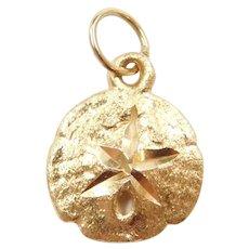 14k Gold Sand Dollar Charm