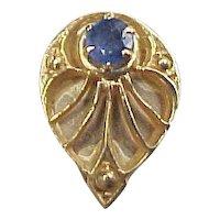 Sapphire 14k Gold Slide ~ Add a Slide Bracelet