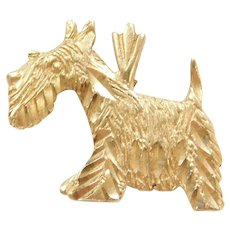 14k Gold Scottish Terrier / Scottie Charm / Pendant