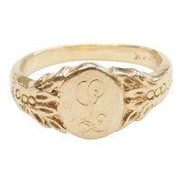 14k Gold Signet Ring