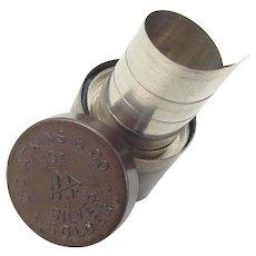 Vintage Silver Solder in Brass Jar Set