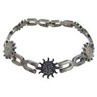 Vintage Sterling Silver Sun Bracelet