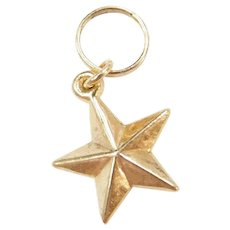Vintage 14k Gold Star Charm