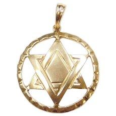 14k Gold Star of David Charm / Pendant
