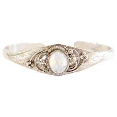 Sterling Silver Moonstone Cuff Bracelet