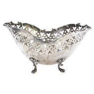 Vintage Sterling Silver Nut / Candy Dish