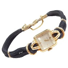 Ladies Rolex Sugar Cube 18k Gold Watch 1960's