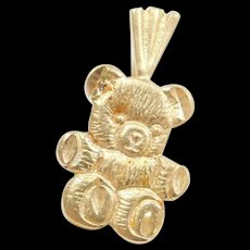 Vintage 14k Gold Teddy Bear Charm / Pendant