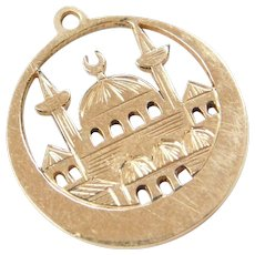 Religious Temple or Mosque 14k Gold Charm