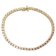 "7"" 2.80 ctw Diamond Tennis Line Bracelet 14k Yellow Gold"
