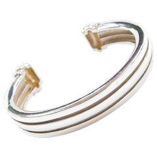 Authentic Retired Tiffany & Co Atlas Cuff Bracelet ~ Sterling Silver